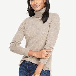 NWT Ann Taylor 100% Cashmere Turtleneck Sweater XL